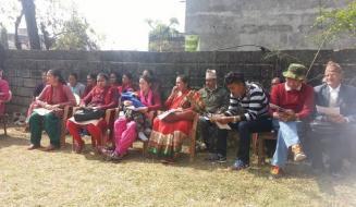 कार्यक्रम मा प्रशिक्षार्थी हरु